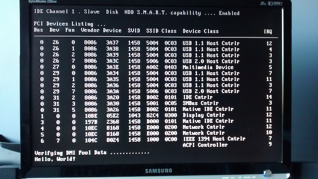Hello World bootloader in assembly