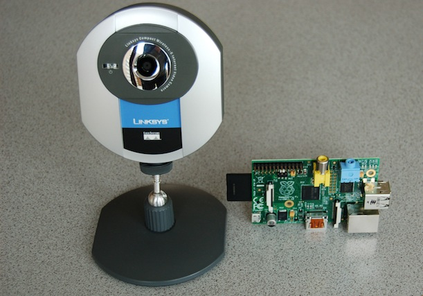 Raspberry Pi with Linksys WVC54GC IP camera